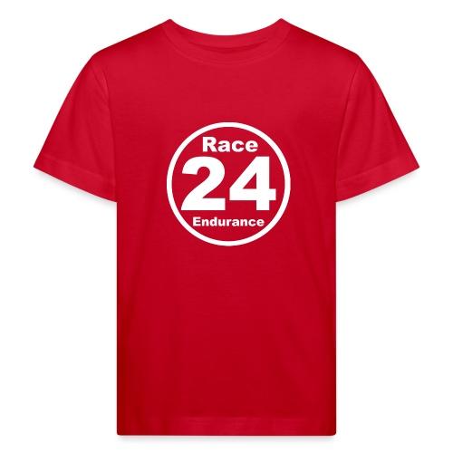 Race24 round logo white - Kids' Organic T-Shirt