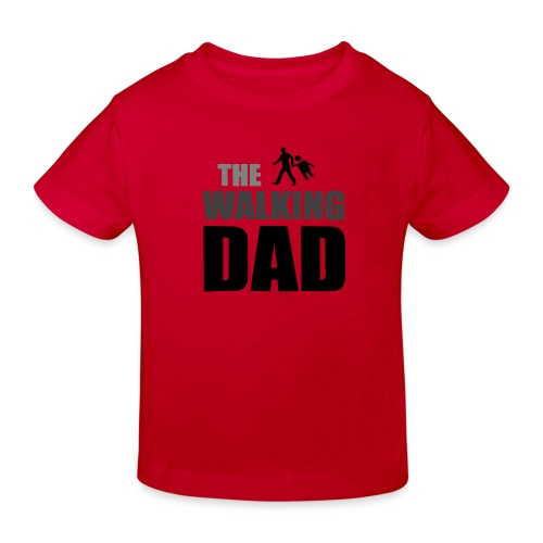 the walking dad auf dem Weg in die lustige Bar - Kinder Bio-T-Shirt