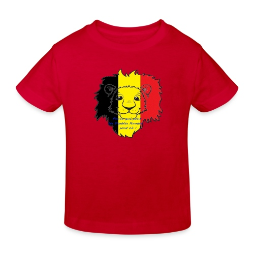 Lion supporter Belgique - T-shirt bio Enfant