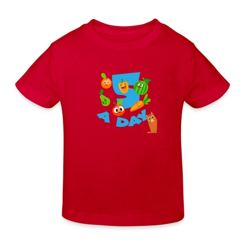 Duna five a day - Økologisk T-skjorte for barn
