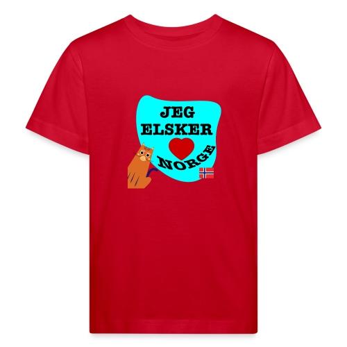 Jeg elsker Norge - Økologisk T-skjorte for barn