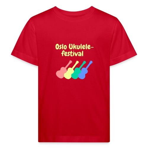 Fire ukuleler - Økologisk T-skjorte for barn