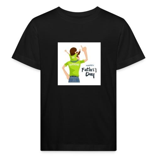 Pngtree precious happy moment with superdad 35709 - T-shirt bio Enfant
