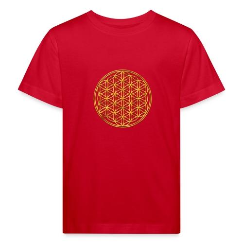 Flower of life GOLD 2 - Kinderen Bio-T-shirt