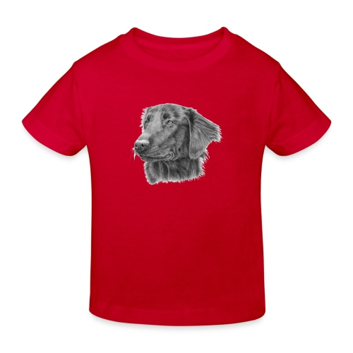 flatcoated retriever bw - Organic børne shirt