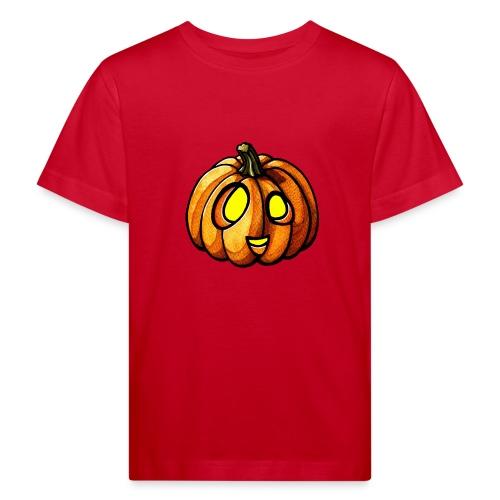 Pumpkin Halloween watercolor scribblesirii - Kids' Organic T-Shirt