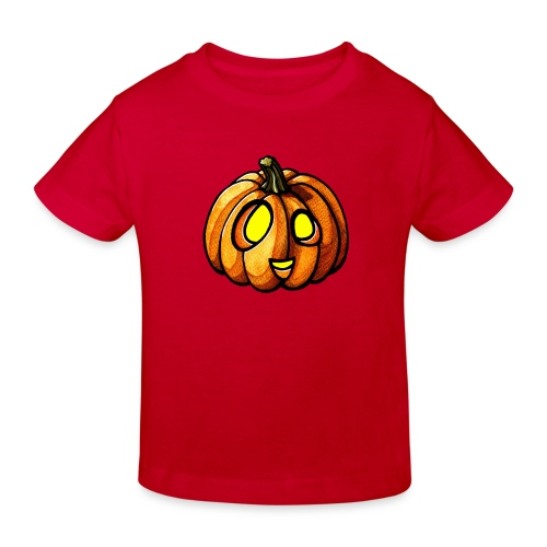 Pumpkin Halloween watercolor scribblesirii - Organic børne shirt
