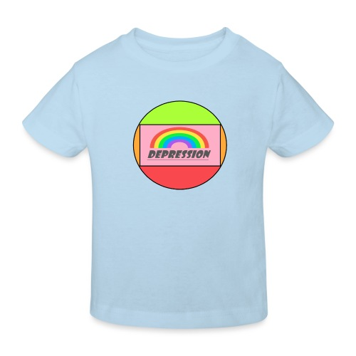 Depressed design - Kids' Organic T-Shirt