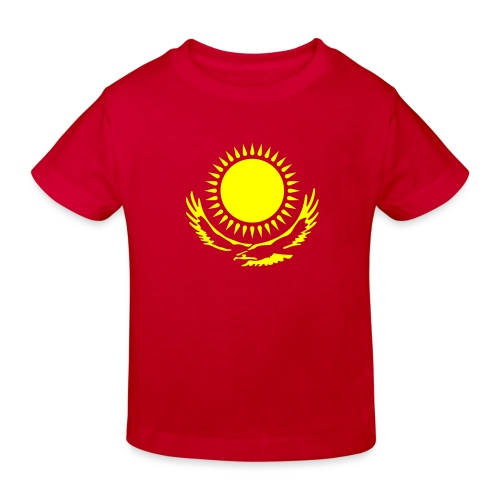 Kasachstan-Wappensymbol - Kinder Bio-T-Shirt