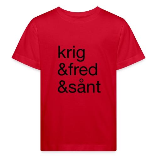 krig&fred&sånt - fra Det norske plagg - Økologisk T-skjorte for barn