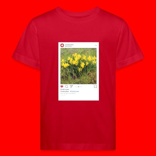 travelsuisse - Blumen Gelb - Kinder Bio-T-Shirt