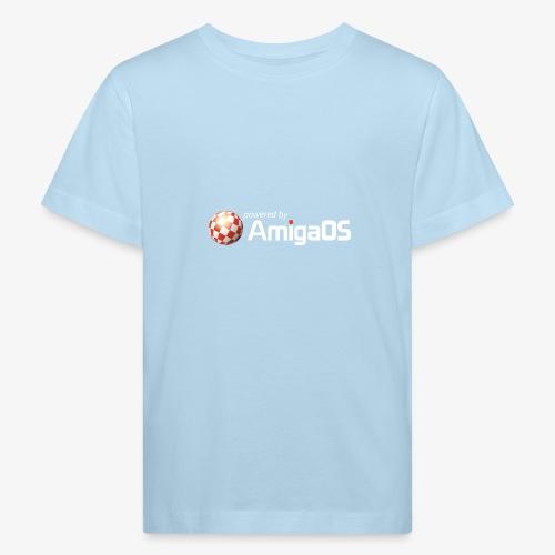 PoweredByAmigaOS white - Kids' Organic T-Shirt