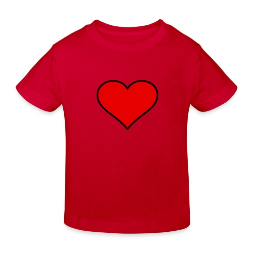big heart clipart 3 - Ekologisk T-shirt barn
