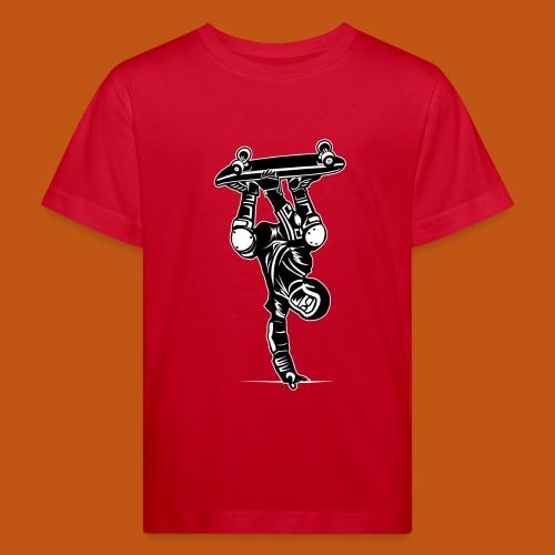 Skater / Skateboarder 02_schwarz weiß - Kinder Bio-T-Shirt