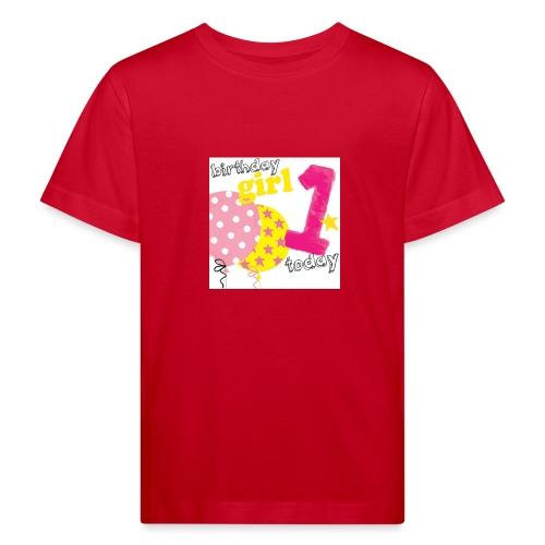 1 today birthday girl - Kids' Organic T-Shirt