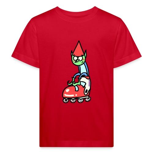 El gnomo en el patín - Camiseta ecológica niño