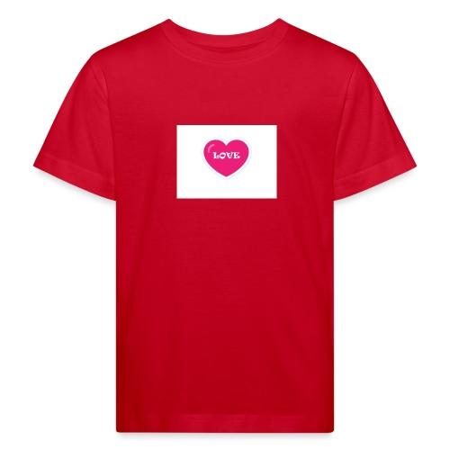Spread shirt hjärta love - Ekologisk T-shirt barn