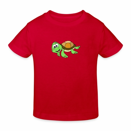 Cute Turtle - Kids' Organic T-Shirt