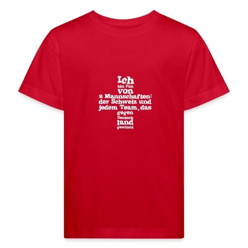 Fan von zwei Mannschaften - Kinder Bio-T-Shirt
