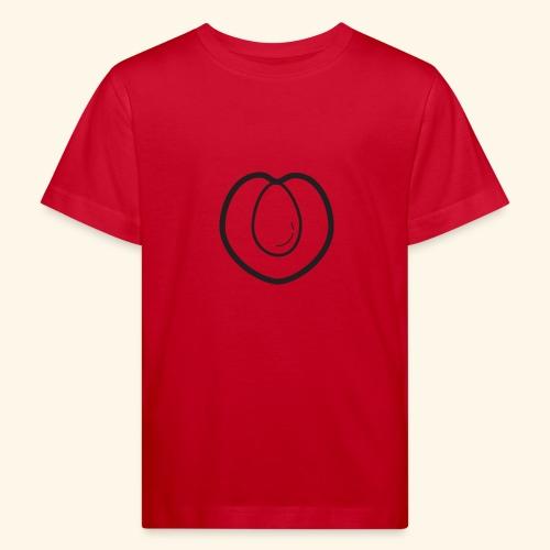 fruits and veggies icons peach 512 - Organic børne shirt