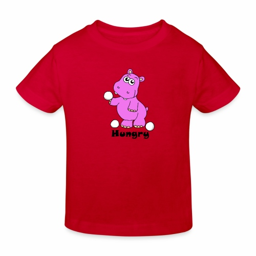 Hungry Hippo - Kids' Organic T-Shirt