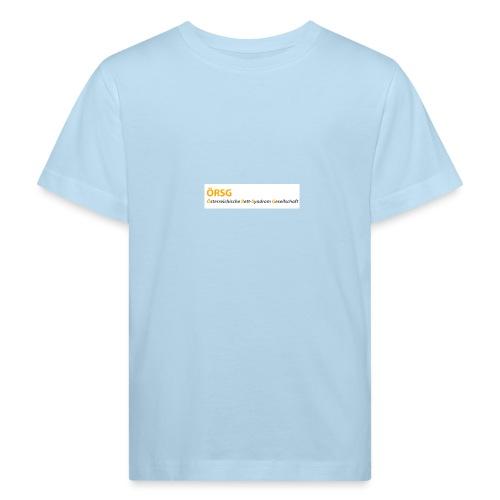 Text-Logo der ÖRSG - Rett Syndrom Österreich - Kinder Bio-T-Shirt