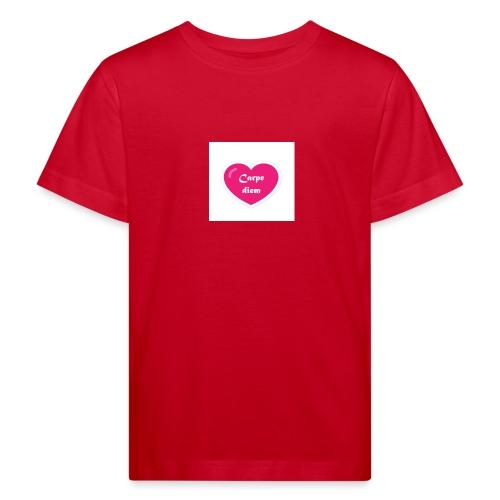 Spread shirt hjärta carpe diem vit text - Ekologisk T-shirt barn