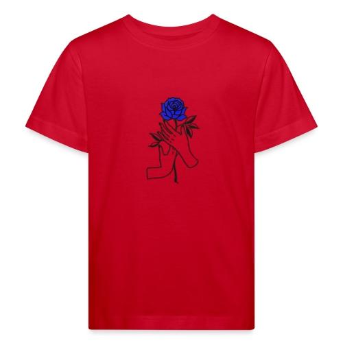 Fiore blu - Maglietta ecologica per bambini