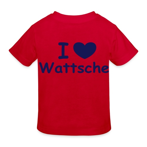 I love Wattsche - Kinder Bio-T-Shirt