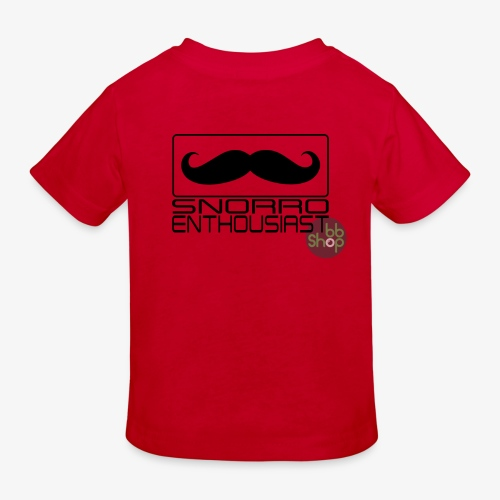 Snorro enthusiastic (black) - Kids' Organic T-Shirt