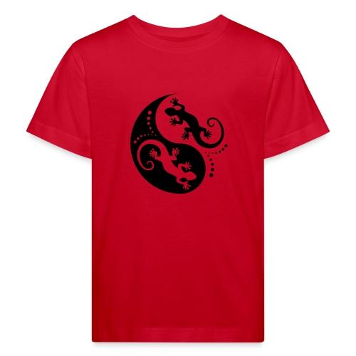 YIN & YANG Geckos black - Kinder Bio-T-Shirt