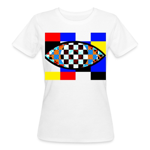 eye with squares in strong colors - Women's Organic T-Shirt