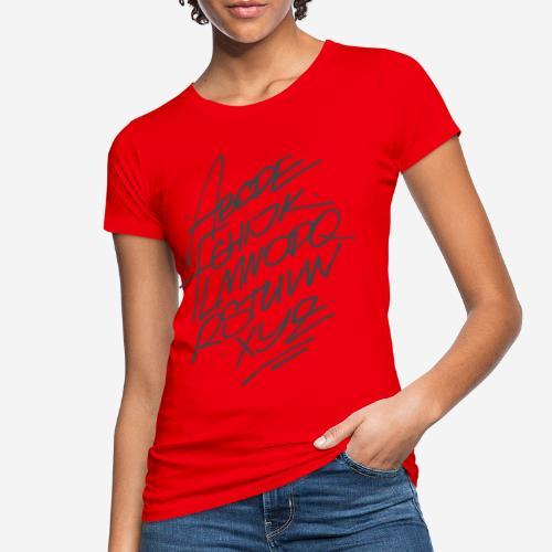 letters font alphabet - Frauen Bio-T-Shirt