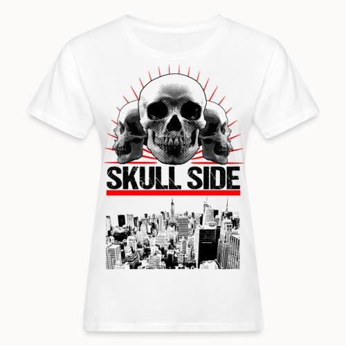 skull side city - Frauen Bio-T-Shirt