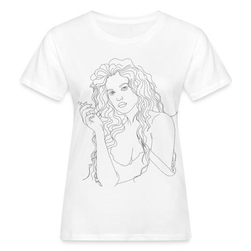 Chica Fumando - Camiseta ecológica mujer