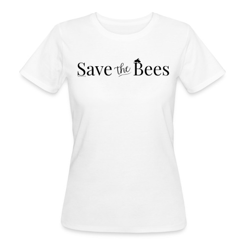 Save The Bees (Black) T-Shirt - Women's Organic T-Shirt