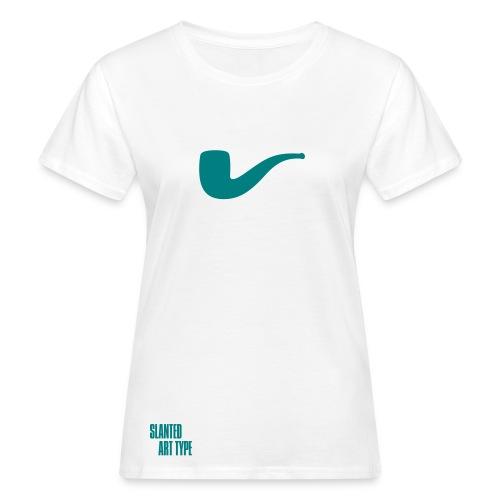 Slanted – Art Type / White Bio / Woman - Frauen Bio-T-Shirt