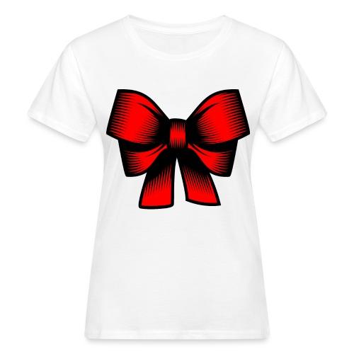 Schleife rot - Frauen Bio-T-Shirt