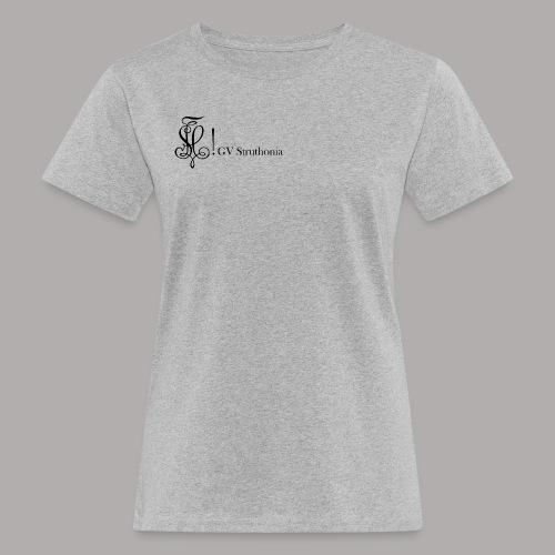 Zirkel mit Name, schwarz (vorne) - Frauen Bio-T-Shirt