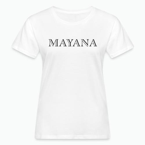 MAYANA NOIR - T-shirt bio Femme