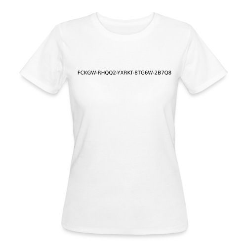 win-xp-key - Frauen Bio-T-Shirt