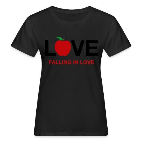 Falling in Love - Black - Women's Organic T-Shirt