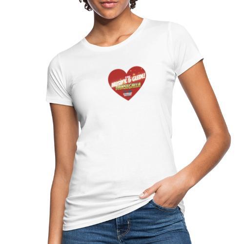 Musikk & Glede Hjertemotiv - Økologisk T-skjorte for kvinner