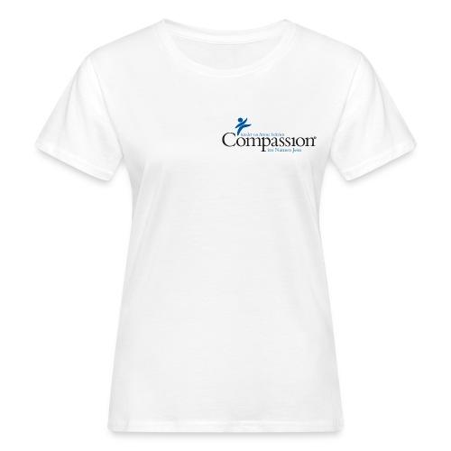 compassion logo mitfarbe und tagline gro - Frauen Bio-T-Shirt
