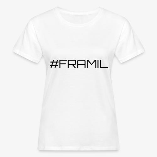Musta framil - Naisten luonnonmukainen t-paita