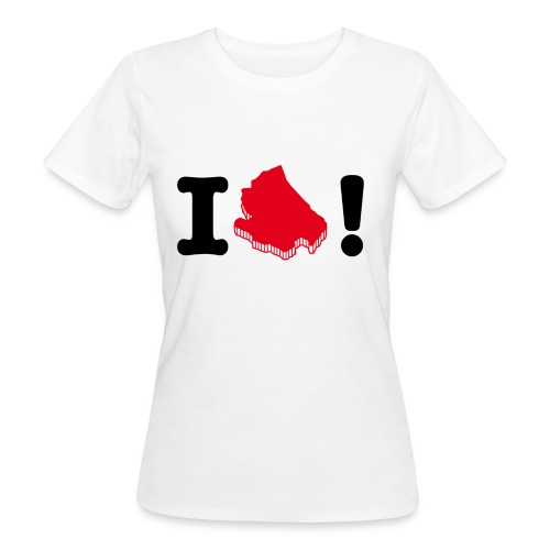 I love Abruzzo - T-shirt ecologica da donna