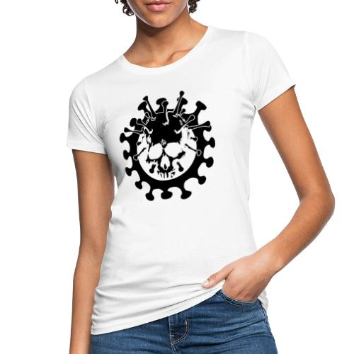 Teschio Dark Nero Covid - T-shirt ecologica da donna