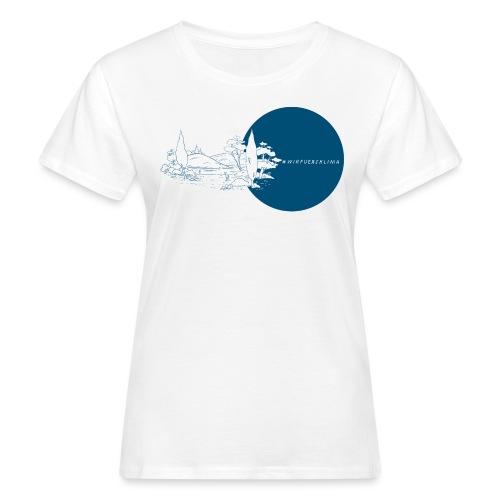 #wirfuersklima Landschaft mit Kreis - Frauen Bio-T-Shirt