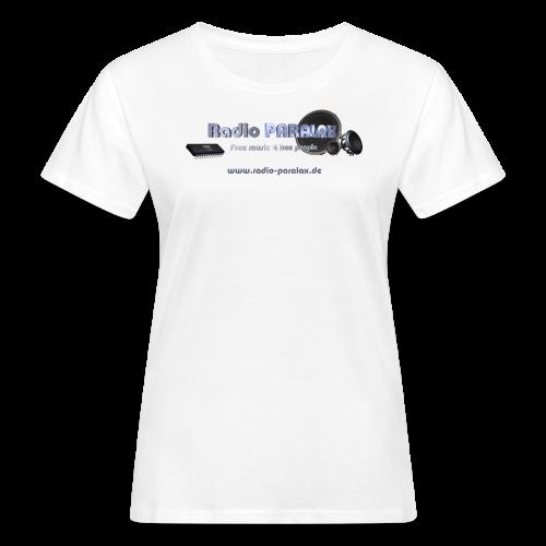 Radio PARALAX Facebook-Logo mit Webadresse - Frauen Bio-T-Shirt