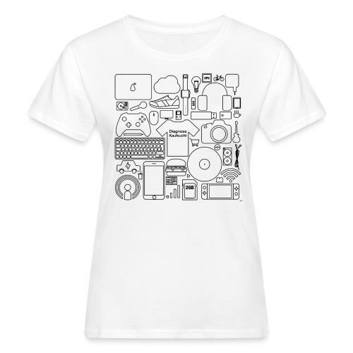Kaufsucht - Frauen Bio-T-Shirt